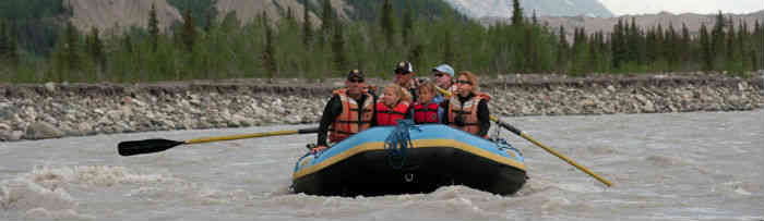 Family on an Alaska Whitewater Rafting Trip